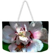 Artistic Shades Of Light And Pollinating Bee Weekender Tote Bag