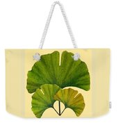 Arts And Crafts Movement Ginko Leaves Weekender Tote Bag