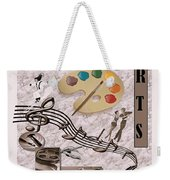Arts Collage Weekender Tote Bag