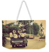 Arusha. Tanzania. Africa. A Group Of Young Men Celebrating Their Graduation Weekender Tote Bag