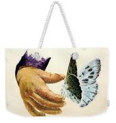 As Delicate As A Butterfly  Weekender Tote Bag