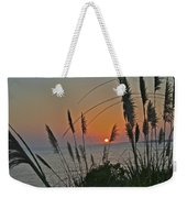 as the sun sets at Seascape Weekender Tote Bag