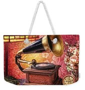 As Time Goes By Weekender Tote Bag by Mo T