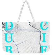 As Turquoise Text Weekender Tote Bag