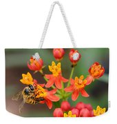 Asclepias Curassavica And Bee Weekender Tote Bag