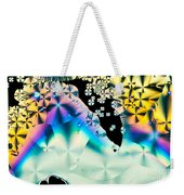 Ascorbic Acid Crystals In Polarized Light Weekender Tote Bag