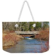 Ash Brook And Bridge Weekender Tote Bag
