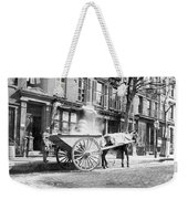 Ash Cart New York City 1896 Weekender Tote Bag by Unknown
