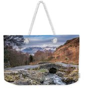 Ashness Bridge And Snow Capped Skiddaw Weekender Tote Bag