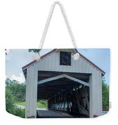 Ashtabula Collection - Mechanicsville Road Covered Bridge 7k0207 Weekender Tote Bag
