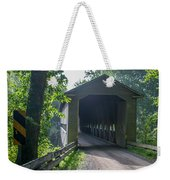Ashtabula Collection - Middle Road Covered Bridge 7k01959 Weekender Tote Bag