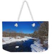 Ashuelot River In Winter Weekender Tote Bag