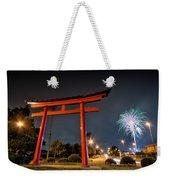 Asian Fireworks Weekender Tote Bag