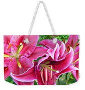 Asian Lily Flowers Weekender Tote Bag