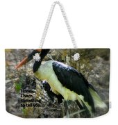 Asian Stork With Message Weekender Tote Bag