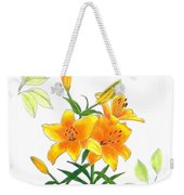Asiatic Hybrid Lily Weekender Tote Bag