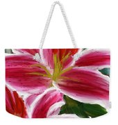 Asiatic Lily- Asiatic Lily Paintings- Pink Paintings Weekender Tote Bag