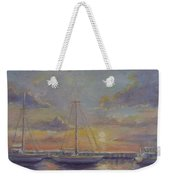 Asleep At The Marina Weekender Tote Bag