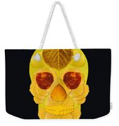 Aspen Leaf Skull 1 Black Weekender Tote Bag