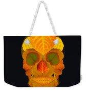 Aspen Leaf Skull 2 Black Weekender Tote Bag