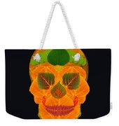 Aspen Leaf Skull 3 Black Weekender Tote Bag