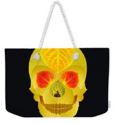 Aspen Leaf Skull 4 Black Weekender Tote Bag