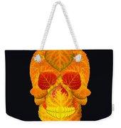 Aspen Leaf Skull 6 Black Weekender Tote Bag