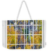 Aspen Tree Magic Cottonwood Pass White Window Portrait View Weekender Tote Bag by James BO  Insogna