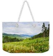 Aspen Trees And Wildflowers Weekender Tote Bag