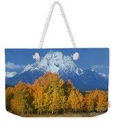 Aspens Fall Mount Moran Grand Tetons National Park Wyoming Weekender Tote Bag