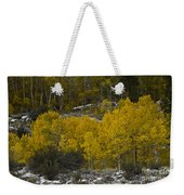 Aspens In Snow Weekender Tote Bag