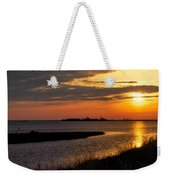 Assateague Sunrise Vertical Weekender Tote Bag