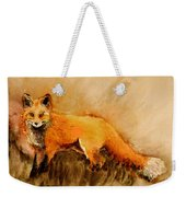 Assessing The Situation Antiqued Weekender Tote Bag