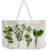 Assorted Fresh Herbs Weekender Tote Bag