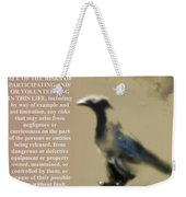 Assuming Corvus Weekender Tote Bag