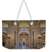 Astor Hall At The New York Public Library Weekender Tote Bag