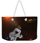 Astronaut And Sun With Stars Weekender Tote Bag