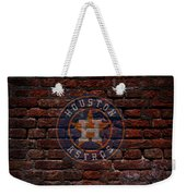 Astros Baseball Graffiti On Brick  Weekender Tote Bag by Movie Poster Prints