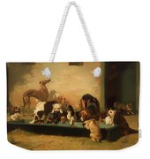 At A Dogs' Home Weekender Tote Bag