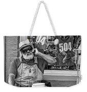 At His Office - Grandpa Elliott Small Bw Weekender Tote Bag
