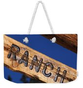 At Home On The Ranch Weekender Tote Bag