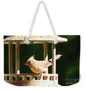 At My Birdfeeder Weekender Tote Bag