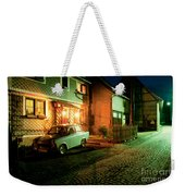 At Night In Thuringia Village Germany Weekender Tote Bag