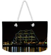 At Night On The  Delaware River - The Mushulu Weekender Tote Bag