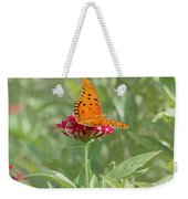 At Rest - Gulf Fritillary Butterfly Weekender Tote Bag
