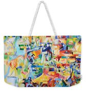 at the age of three years Avraham AVine recognized his Creator 5 Weekender Tote Bag