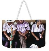 At The Bus Station Weekender Tote Bag