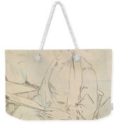 At The Cafe Weekender Tote Bag by Henri de Toulouse-Lautrec
