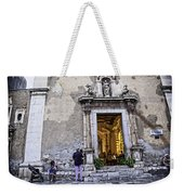 At The Church - Child's Curiosity - Sicily Weekender Tote Bag