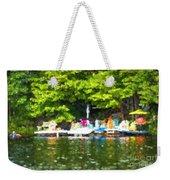 At The Cottage Dock Weekender Tote Bag